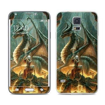 Dit is geen cover, dit is een decoratieve beschermde skin sticker!samsung galaxy s5 dragon mage skin  mete ...