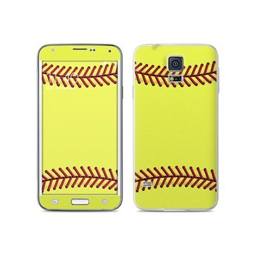 Dit is geen cover, dit is een decoratieve beschermde skin sticker!samsung galaxy s5 softball skin  mete deze ...