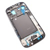 Samsung Galaxy S3 I9300 Front Cover - Zwart